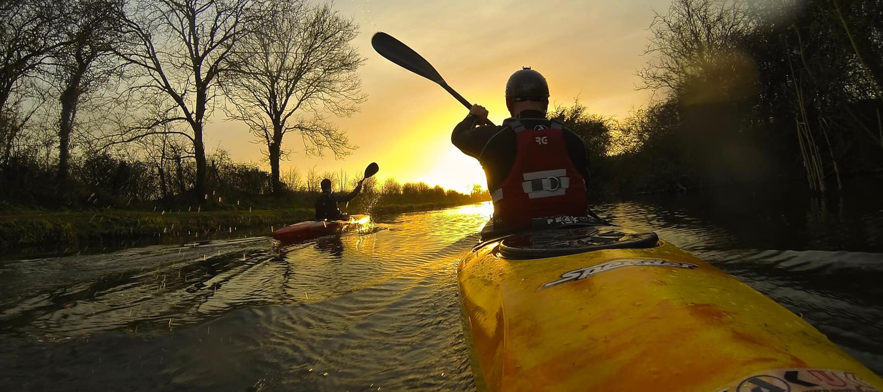 Purpose and Objectives. Paddlers paddling into the sunset.